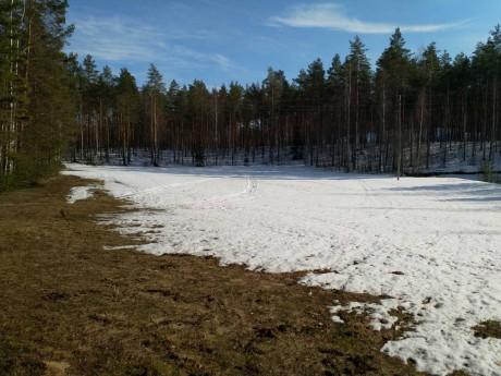 Kilpailukeskuksessa lumi sulaa